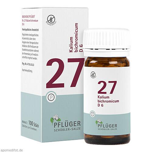 Biochemie Pflüger Nr. 27 Kalium bichromicum D 6, 100 ST, A.Pflüger GmbH & Co. KG
