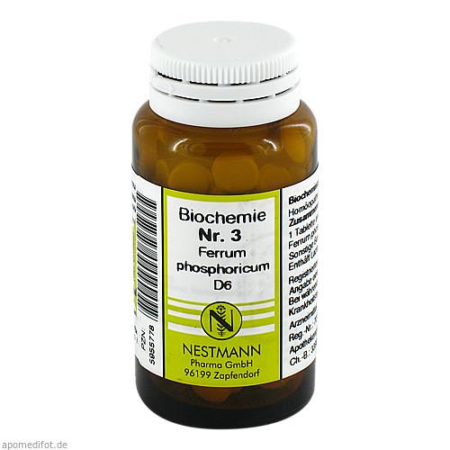 BIOCHEMIE 3 Ferrum phosphoricum D 6 Tabletten, 100 ST, NESTMANN Pharma GmbH