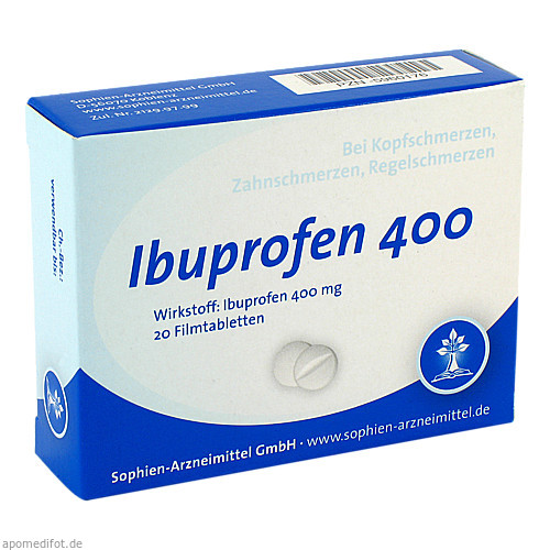 Ibuprofen Sophien 400, 20 ST, Sophien-Arzneimittel GmbH