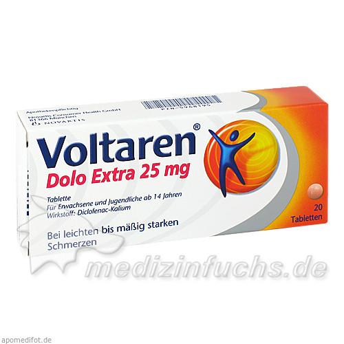 VOLTAREN Dolo Extra 25 mg überzogene Tabletten, 20 ST, Novartis Consumer Health GmbH