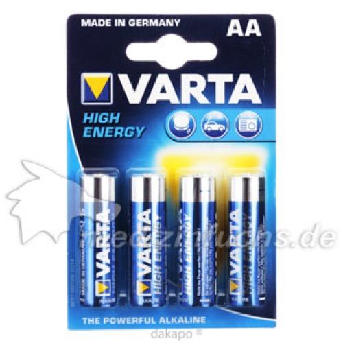 Varta Mignon AA4906 High Energy, 4 ST, Batterien-Spezialgroßhandlung G. Lenz Inh.: Michael Manthe E.K.