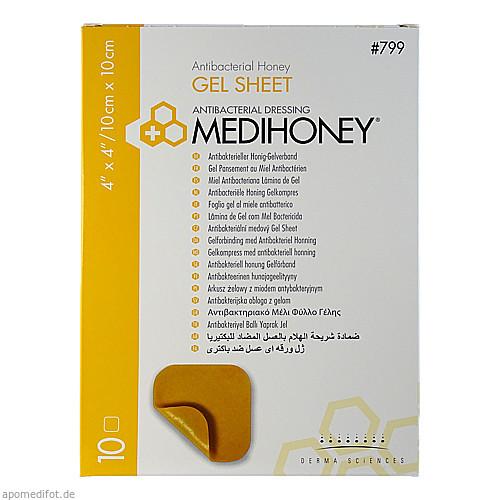 MEDIHONEY Antibakterieller Gelverband 10x10 cm, 10 ST, ApoFit Arzneimittelvertrieb GmbH