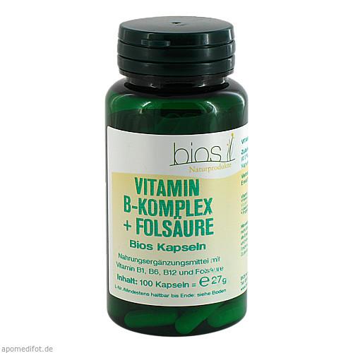 Vitamin B Komplex+Folsäure Bios Kapseln, 100 ST, Bios Medical Services