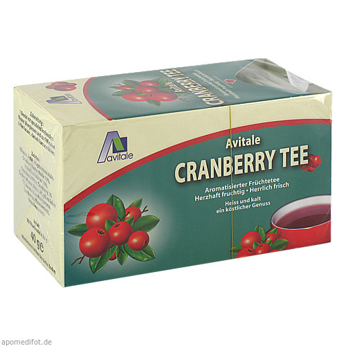 Cranberry Tee Filterbeutel, 20 ST, Avitale GmbH