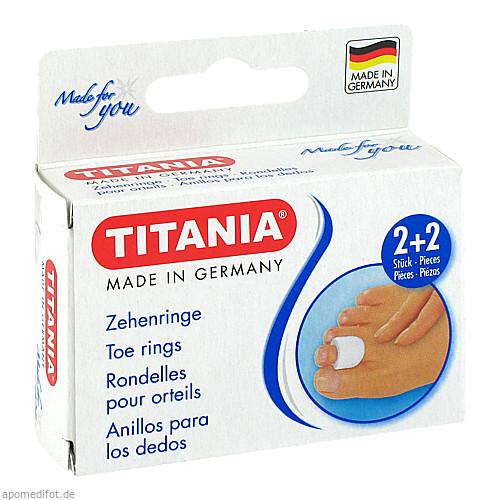 Zehenringe 2xklein 2xgross TITANIA, 4 ST, Axisis GmbH