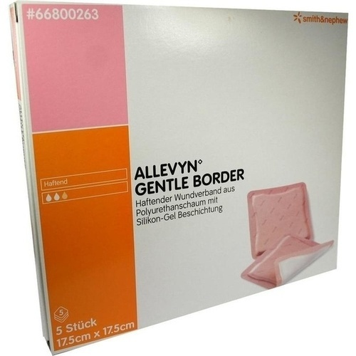 Allevyn Gentle Border 17.5cmx17.5cm, 5 ST, Smith & Nephew GmbH