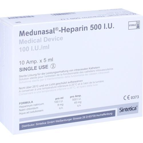 Medunasal - Heparin 500 I.U., 10X5 ML, Sintetica GmbH
