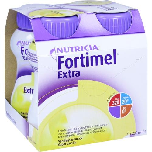 Fortimel Extra Vanillegeschmack, 4X200 ML, Nutricia GmbH