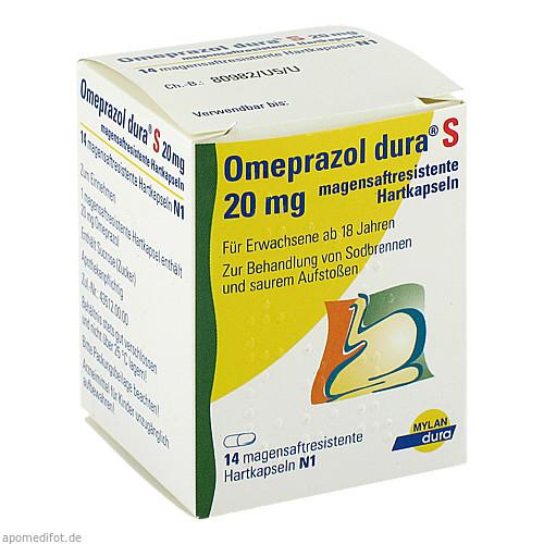 Omeprazol dura S 20mg, 14 ST, Mylan dura GmbH