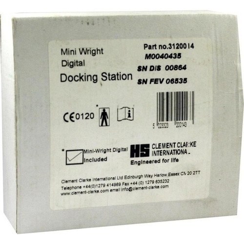 Peak Flow Meter Digital Mini Wright Download Kit, 1 ST, Dr.Beckmann