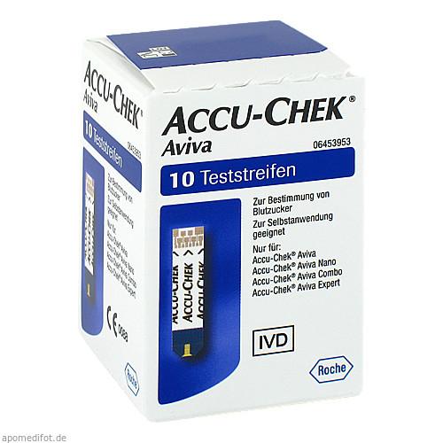 Accu-Chek Aviva Teststreifen Plasma II, 1X10 ST, Roche Diabetes Care Deutschland GmbH