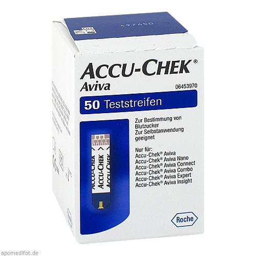 Accu-Chek Aviva Teststreifen Plasma II, 1X50 ST, Roche Diabetes Care Deutschland GmbH