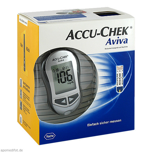 Accu-Chek Aviva III Set mg/dl, 1 ST, Roche Diabetes Care Deutschland GmbH