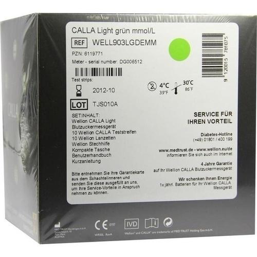 Wellion CALLA light Blutzuckermg. Set mmol/l grün, 1 ST, Med Trust GmbH