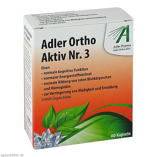ADLER ORTHO AKTIV Kapseln Nr.3, 60 ST, Adler Pharma Produktion und Vertrieb GmbH