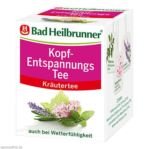 Bad Heilbrunner Kopf-Entspannungstee, 8X2.0 G, Bad Heilbrunner Naturheilm. GmbH & Co. KG