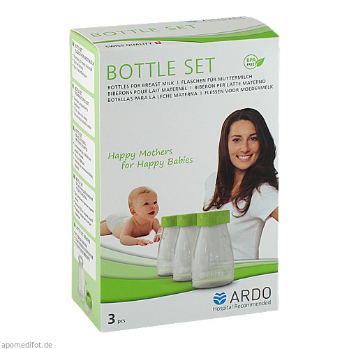 Ardo BottleSet Muttermilchflaschen, 3 ST, Ardo Medical GmbH