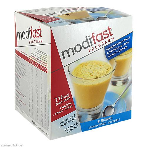 MODIFAST Programm Drink Vanille Pulver, 8X55 G, OTC Siebenhandl GmbH