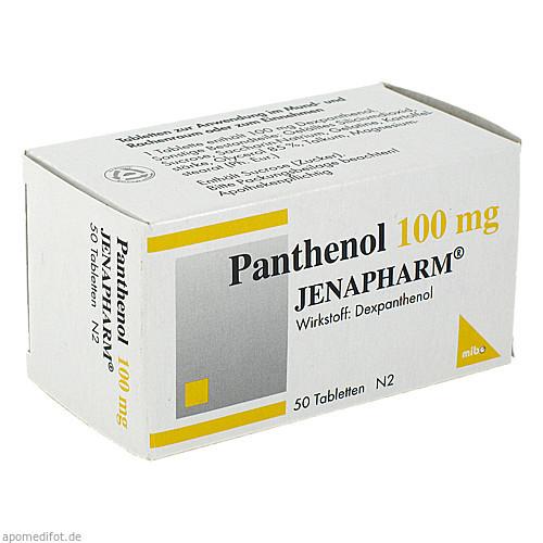 Panthenol 100mg JENAPHARM, 50 ST, Mibe GmbH Arzneimittel