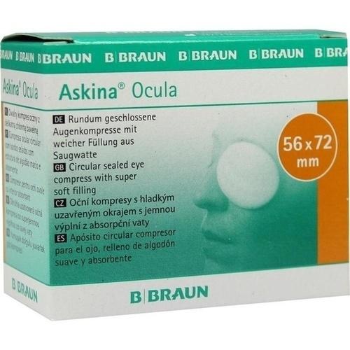 ASKINA Ocula Augenkompressen 56X72mm unseril, 5 ST, B. Braun Melsungen AG