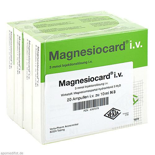 MAGNESIOCARD IV, 20X10 ML, Verla-Pharm Arzneimittel GmbH & Co. KG