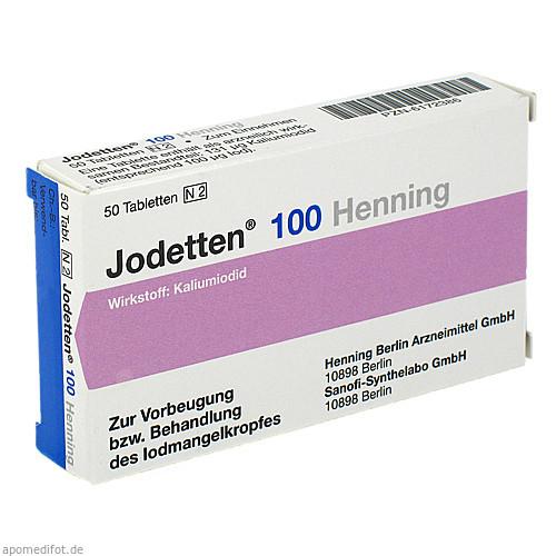 JODETTEN 100 Henning Tabletten, 50 ST, Sanofi-Aventis Deutschland GmbH