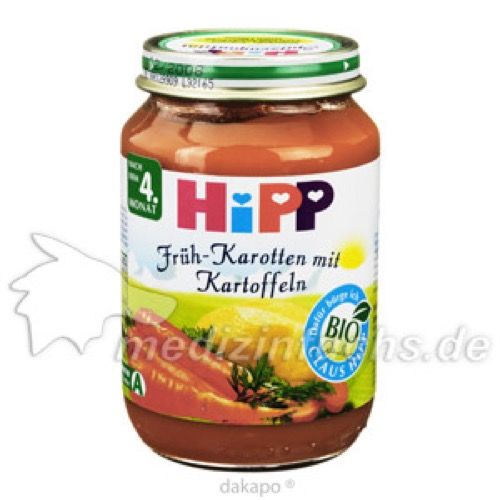 HIPP 4110 KAROTTEN KARTOFF, 190 G, Hipp GmbH & Co.Vertrieb KG