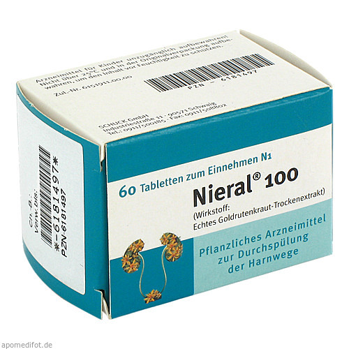 NIERAL 100, 60 ST, T & D Pharma GmbH
