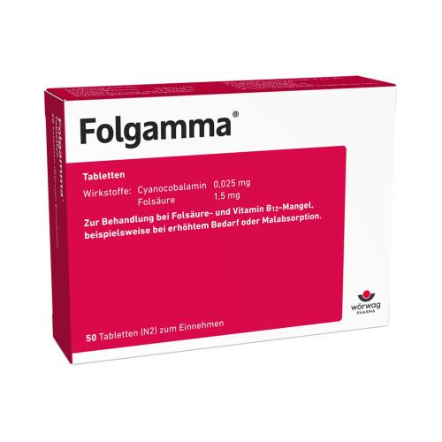 FOLGAMMA, 50 ST, Wörwag Pharma GmbH & Co. KG