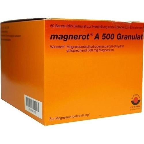 MAGNEROT A 500 BEUTEL, 50 ST, Wörwag Pharma GmbH & Co. KG