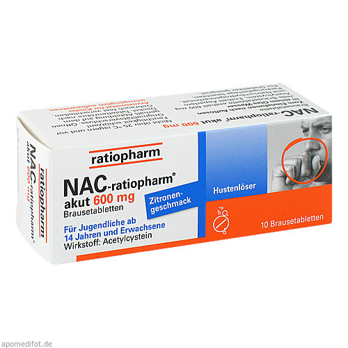 NAC-ratiopharm akut 600mg Hustenlöser, 10 ST, ratiopharm GmbH