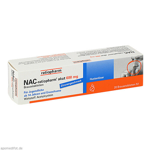 NAC-ratiopharm akut 600mg Hustenlöser, 20 ST, ratiopharm GmbH