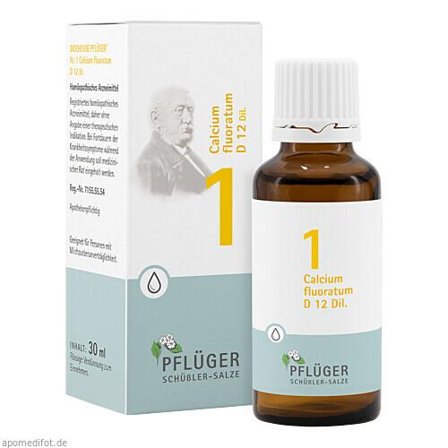 Biochemie Pflüger Nr. 1 Calcium fluoratum D12 Dil., 30 ML, A.Pflüger GmbH & Co. KG