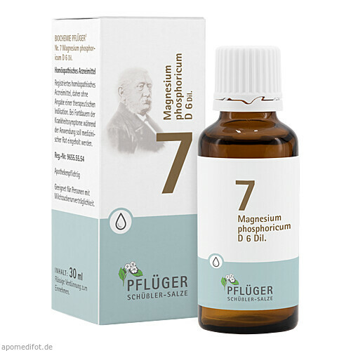 Biochemie Pflüger Nr. 7 Magnesium phosphoric. D 6, 30 ML, A.Pflüger GmbH & Co. KG