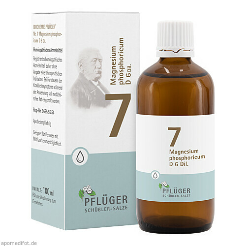 Biochemie Pflüger Nr. 7 Magnesium phosphoric. D 6, 100 ML, Homöopathisches Laboratorium Alexander Pflüger GmbH & Co. KG