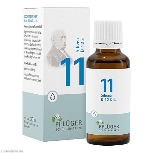 Biochemie Pflüger Nr. 11 Silicea D12 Dil., 30 ML, A.Pflüger GmbH & Co. KG