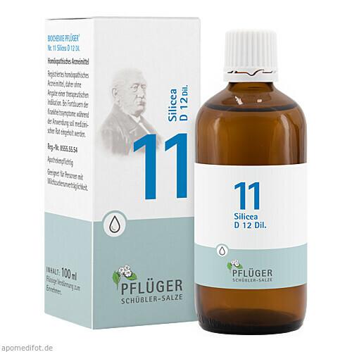 Biochemie Pflüger Nr. 11 Silicea D12 Dil., 100 ML, Homöopathisches Laboratorium Alexander Pflüger GmbH & Co. KG