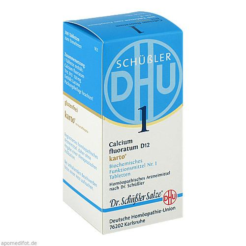 Biochemie DHU 1 Calcium fluoratum D12 Karto, 200 ST, Dhu-Arzneimittel GmbH & Co. KG