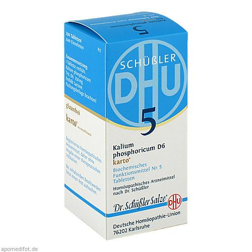 Biochemie DHU 5 Kalium phosphoricum D 6 Karto, 200 ST, Dhu-Arzneimittel GmbH & Co. KG