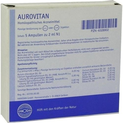 Aurovitan Ampullen, 5X2 ML, Hanosan GmbH