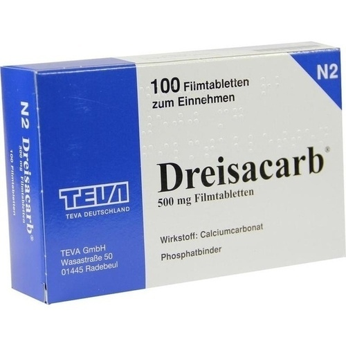 DREISACARB Filmtabletten, 100 ST, Teva GmbH