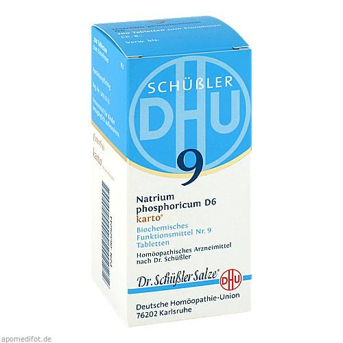 BIOCHEMIE DHU 9 Natrium phosphoricum D 6 Tab.Karto, 200 ST, DHU-Arzneimittel GmbH & Co. KG