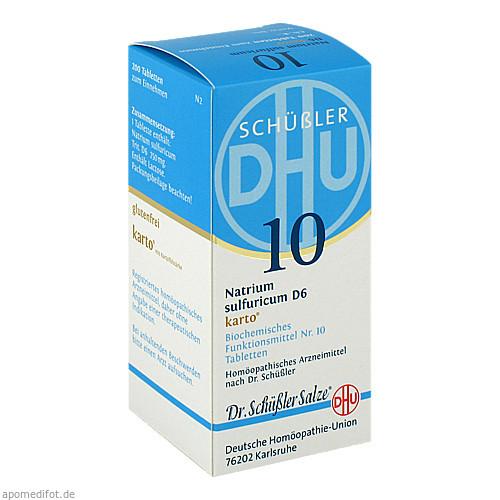 Biochemie DHU 10 Natrium sulfuricum D 6 Karto, 200 ST, Dhu-Arzneimittel GmbH & Co. KG