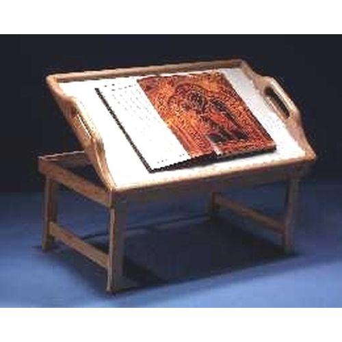 Bett-Tisch Holz m Buchstütze Lesetablett, 1 ST, Groß GmbH