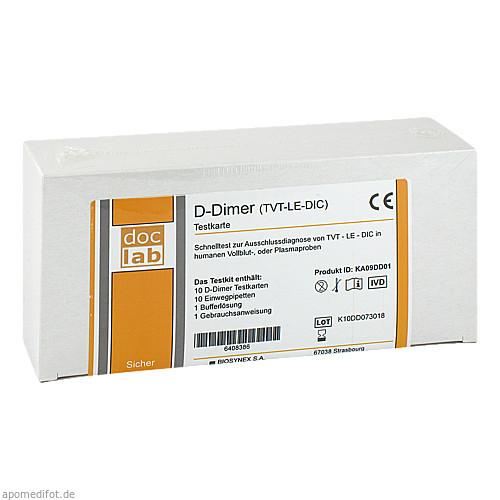 D-Dimer Vollblut Schnelltest Testkarte, 10 ST, Doclab GmbH