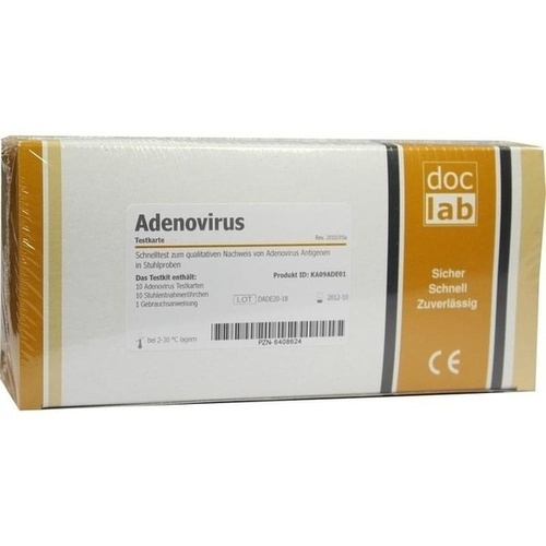 ADENOVIRUS Antigen Stuhltest Teststreifen, 10 ST, DocLab GmbH