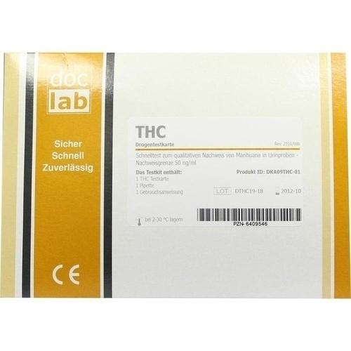 Drogentest THC Marihuana Testkarten, 1 ST, Doclab GmbH