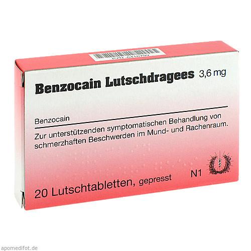 Benzocain Lutschdragees, 20 ST, Habitum Pharma