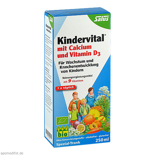 KINDERVITAL Bio mit Calcium und Vitamin D3 Salus, 250 ML, Salus Pharma GmbH