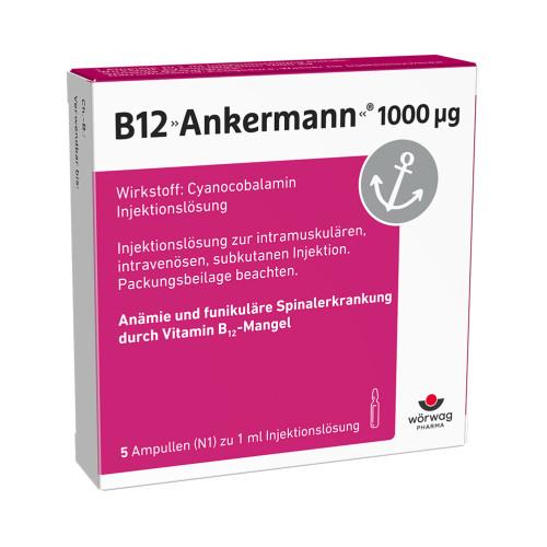 B12 ANKERMANN 1000UG, 5X1 ML, Wörwag Pharma GmbH & Co. KG